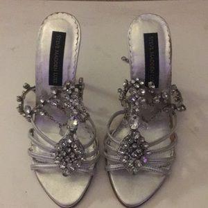 Jozette Silver Leather Heel